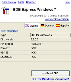 BDE eXpress screenshot